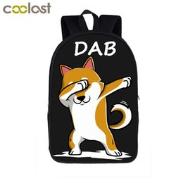 Wholesale Dab Puppy Shiba Inu German Shepherd Bull Dog Backpack For Teenage Women Men Bags Boys Girls Dabbing School Backpack Bags