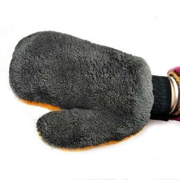 $enCountryForm.capitalKeyWord Canada - 1pc Coral Fleece Velvet Car Wash Gloves Car Cleaning Care Mitt Lined With Waterproof Furniture Glass Dust Cleaner Washer 893622