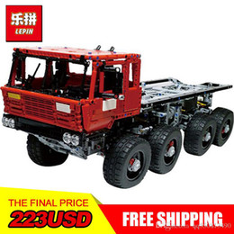 Chinese  LEPIN 23012 Technology series 2839pcs vehicles car Model toy 813 Building blocks Bricks Equipped with 5 motors and 1 charging box manufacturers
