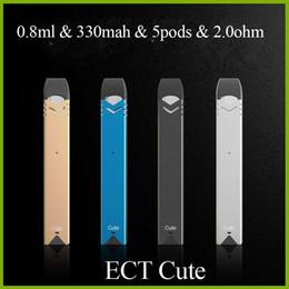 Design kit e online shopping - original ECT Cute e cigarette mah vape pen starter kit with ml pod leakproof ultra portable design ohm cartridge