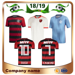 18 19 Flamengo home red black Camisa de futebol 2018 Away GUERRERO DIEGO  EDERSON Camisa de futebol MANCUELLO VINICIUS JR 3ª Custom football uniformes f6c8f9de20d