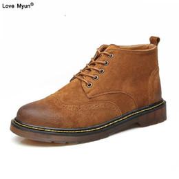 fa6180650edef7 Grande taille 100% en cuir véritable hommes cheville bottes mode printemps  / automne imperméable chaussures hommes lacets casual nouvelle courte  boot752
