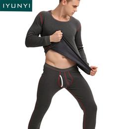 28484e46f2 Velvet Onesies NZ - IYUNYI Men Thermal Underwear Sets 2018 Autumn Winter  Plus Velvet Thickening Warm
