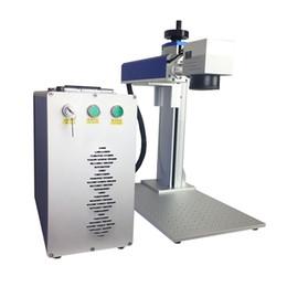 Vendas direto da fábrica de metal logotipo gravador a laser de fibra 20 w maxphotonics marcação a laser de fibra e máquina de impressão com sino-galvanômetro