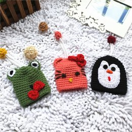 Multi Color Hand Bag Australia - New arrival 12 color keychain Hand-knitted key pendant keyrings for bag car decoration keychain Christmas gift for kids 100pcs T1I941