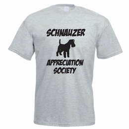 df5dfbdd T Shirt Sayings Crew Neck Novelty Schnauzer Appreciation Society German Dog  Funny Gift Idea Short Sleeve Mens Tees