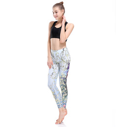Chinese  Women Sport Leggings Peacock Print Running Tights For Women XXXL XXL Plus Size High Waist Fitness Yoga Pants Dropship Yoga0050 manufacturers