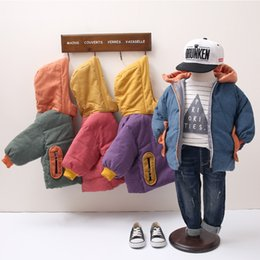 coating service NZ - Winter Baby Girls Boys Warm Thick Coats Kids Toddler Fashion Hooded Cloak Jacket Loose Bread Service Outerwear Clothes Parka