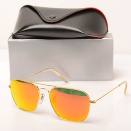 glasses prices Australia - Cheap price Mirror sunglasses women's sunglasses pilot fashion Brand Sun glasses design men's sunglasses glass lens With case and box