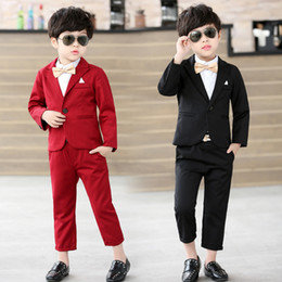 $enCountryForm.capitalKeyWord Australia - Baby Boys Suit Jackets 2018 Spring Cotton Coat Pants Tie 3 Piece Kids Suits Boy Wedding Blazer Infantil Chlidren Clothing 3sb007