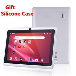 $enCountryForm.capitalKeyWord Australia - Gift Silicone Case ! 7 inch Android Tablet PC Q88 A33 Quad-Core WiFi Google Play store 1GB+ 8GB