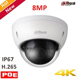 Discount 4mm camera - Original Dahua 4k 8mp IP Camera IPC-HDBW4830E-AS 8MP IR Dome Security Camera H.265 4mm fixed lens IR distance 30m Suppor