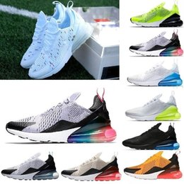 f39f9fade5015f hot sale France champion 2 star 270 Wholesale Mens Air Flair Triple Black  AH8050 Trainer Sports Running maxes Shoes Womens air sole Sneakers