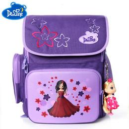 7a387892772 Delune sweet princess cartoon School Bag flower little girls School Backpack  soft light orthopedic purple Backpack For children sweet backpacks for girls  ...
