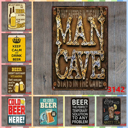 Men folk online shopping - MAN CAVE cm Metal Tin Signs Christmas Gifts Luxury Home Decor Posters Arts and Crafts Bedroom Wall Decorations