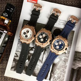 japan movement watches 2018 - aaa luxury mens watches original buckle Japan imported multifunction running seconds movement octagonal cheap japan move
