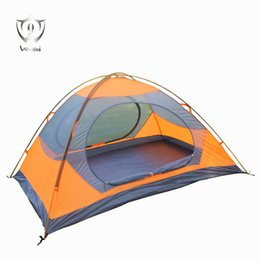 Two Pole Australia - Wnnideo Outdoor Double Layer Tent Aluminum Poles for 2 Person Camping Hiking Waterproof Beach Tent