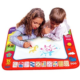 Toy Sets UK - 80 x 60cm Baby Kids Add Water with Magic Pen Doodle Painting Picture Water Drawing Play Mat in Drawing Toys Board Gift Christmas