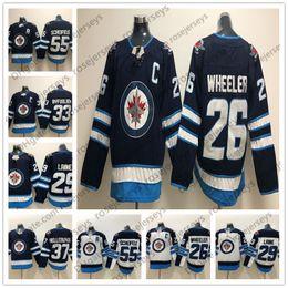 2018 Winnipeg Jets  26 Blake Wheeler 29 Patrik Laine 33 Dustin Byfuglien 55  Mark Scheifele 37 Hellebuyck Blue White Mens Womens Youth Jersey 6e929e398