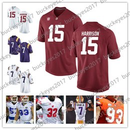 NCAA LSU Tigers  7 DJ Chark Jr. Gators Taven Bryan Alabama 15 Harrison  Green Black White Stitched 2018 Draft College Football Jersey 855d37295