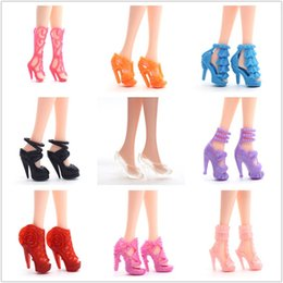 Boots for girls high heel online shopping - Shoe Accessories For Dolls High Heeled Shoes Middle And Short Boots Baking Cake General Purpose Plain Body Doll Accessory sy W