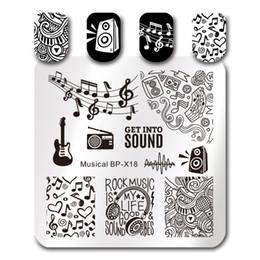 $enCountryForm.capitalKeyWord Australia - Musical Note Design Square Stamping Template BORN PRETTY Nail Art Stamp Image Plate BP-X18 6*6cm