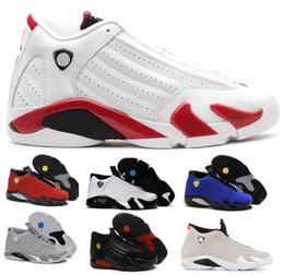 0564f074088e75 Mike 14 Basketball Shoes Black Mens Womens Desert Sand Suede Thunder Toe  Indigl DMP Candy Cane 14s XIV Sports Trainer Brand Shoe Sneakers