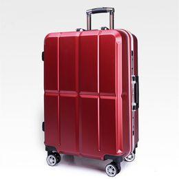 Aluminiumrahmen Gepäck Hardside Rolltrolley Bag Gepäck Reise Koffer 20 Handgepäck 20 24 Zoll Checked Wheels Sporttaschen