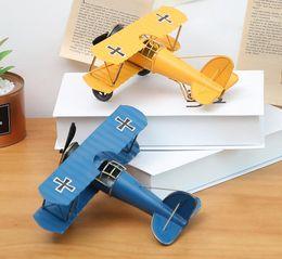 Airplane Art Australia - Vintage large handmade wrought iron airplane model decoration creative home metal crafts