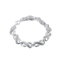 sterling silver dragon bracelets NZ - Little white dragon bracelet sterling silver plated bracelet ; New arrival fashion men and women 925 silver bracelet SPB130