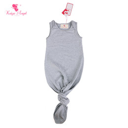 9c1640f80f64 Kaiya Angel Baby Sleep Gown Sleeveless Infant Sleep Gowns Solid Color Tie  Gown Sack Boys Girls Clothes 0-24M