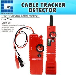 test battery cables 2020 - NF-819_EU Underground Cable Tracker Detector 220V Tester Wire Locator Low Voltage w  Polarity Test Function & Rechargeab