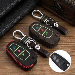 $enCountryForm.capitalKeyWord Australia - Luminous leather Remote 3 Buttons car key fob case cover wallet shell for Ford Maverick New Focus Mondeo car key set bag