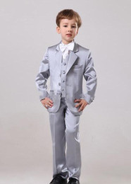 $enCountryForm.capitalKeyWord Canada - New Design Boy Tuxedos Notch Lapel Two Button Formal Children Clothing For Wedding Party 5Pcs (Jacket+Pants+Bow+Vest+Shirts)
