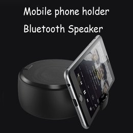 Iphone center online shopping - new Wireless Bluetooth Speaker Stereo Sound Super Bass Music Player Cell Phone Stand Holder For PC iPhone Plus X Samsung Galaxy MIS185