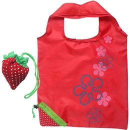 d8c68d2dd1b Creative Strawberry Portable Shopping Bags Nylon Reusable Eco-friendly  Foldale Tote Bags Storage Pouch Folding Hand Bags DHL Ship