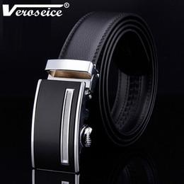 Designer Leather Trousers Australia - [Veroseice] Genuine Leather Male Belt Designer Automatic Real Leather Belt Men High Quality Luxury Trousers Pants Men's Belt