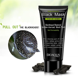 Wholesale blacks mask resale online - Blackhead Removre Bamboo Charcoal Black Face Mask Deep Cleansing Peel Off Mask Pores Shrinking Acne Treatment Oil control