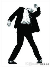Venta al por mayor de Envío gratis Robert Longo Men In The Cities Negro Blanco Carteles artísticos de alta calidad Imprimir Papel fotográfico 16 24 36 47 pulgadas