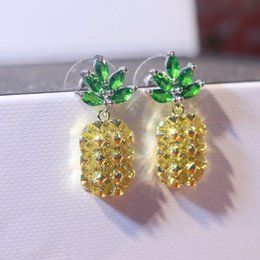 New Earring Models NZ - The new 925 silver silver inlaid CZ pineapple pineapple Earrings Earrings 925 silver female fashion models
