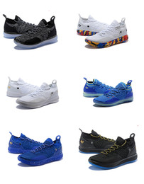 fff744ed7d85 Best Kevin Durant 11 Basketball Shoes For Men Black Moon Ice Blue KD 11s  Basketball Trainer Zoom Cushion Breathable Sports Sneakers On Sale