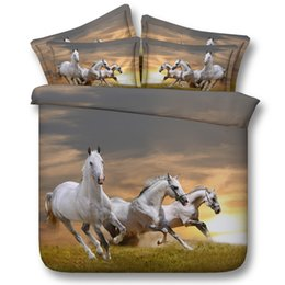 $enCountryForm.capitalKeyWord NZ - 3D galloping 3 horses bedding sets animal duvet cover bedspreads comforter cover Bed Linen Quilt Covers bed cover for adults boys men