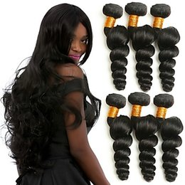 $enCountryForm.capitalKeyWord Australia - Brazilian Hair Loose Wave Human Hair Weaves 1 Pieces Christmas High Quality Best Quality Youth Natural Color Hair Weaves Women's