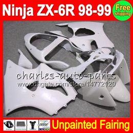 Kawasaki Body Kit Zx6r 1999 NZ - 8Gifts Unpainted Full Fairing Kit For KAWASAKI NINJA ZX-6R 98-99 ZX6R ZX 6R 6 R ZX- 6R 98 99 1998 1999 1998-1999 Fairings Bodywork Body kit