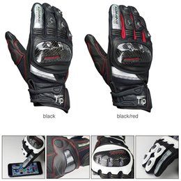 Bicycling Gear NZ - komine GK-193 Carbon Fiber Motorcycle Gloves Protective Gears Motocross Leather Touch Screen Gloves Guantes Bicycle riding gloves