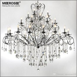 Discount large wrought iron chandeliers large wrought iron large 28 arms wrought iron chandelier crystal light fixture chrome lustre de sala crystal hanging lamp for living room md051 l28 large wrought iron aloadofball Choice Image
