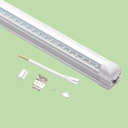Energy Saving Shades Australia - t8 LED Tube Light Integrated V shade Fluorescent Light 4ft 1200mm Led Light 28W AC85-265V High Bright