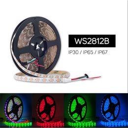 Ws2812b strip online shopping - WS2812B WS2812 IC DC V Smart LED pixel strip rgb led light tape ribbon Light led m