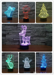 $enCountryForm.capitalKeyWord Australia - Creative Gift for Children christmas toys USB RGB Lamp Touch Dimmable 3D Night Light as Bedroom Seven Color Changing Lamp