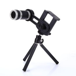 mobile phone camera lens 2019 - ALLOET 8X Zoom Telephoto Monocular Telescope Lenses Universal Flexible Adjustable Clip Mobile Phone Camera Lens TrMount